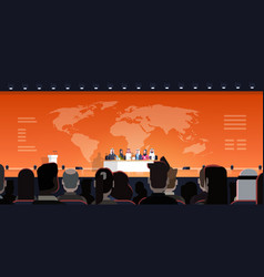 group of arab business people on conference public vector image
