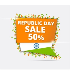 Indian Independence Day Sale Tricolor banner vector image