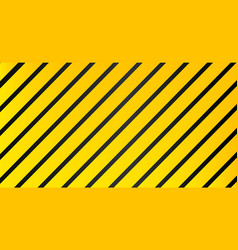 industrial striped warning yellow black pattern vector image