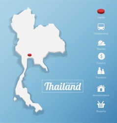 kingdom of thailand vector image