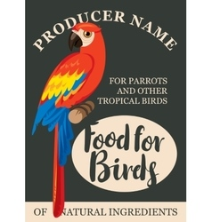 label feed tropical birds vector image