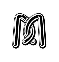 letter m celtic font norse medieval ornament abc vector image