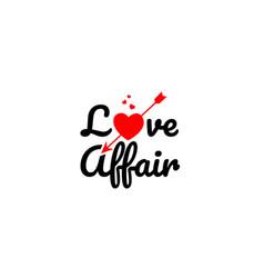 Love affair word text typography design logo icon vector