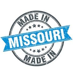 Made in Missouri blue round vintage stamp vector