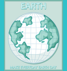 make everyday earth day poster vector image