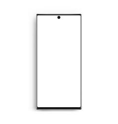 modern frameless cellphone mockup isolated vector image