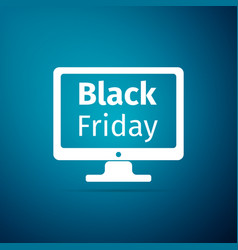 monitor with black friday sale on screen icon vector image