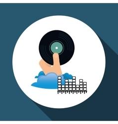 Music design vinyl icon White background vector image