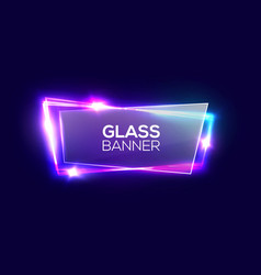night club neon sign with transparent glass plate vector image
