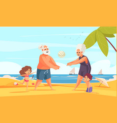 old people outdoor activity vector image