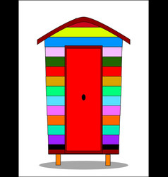 One beach hut vector