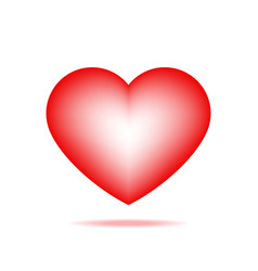 one cute red heart isolated icon vector image