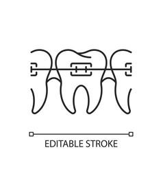 orthodontics linear icon vector image