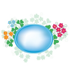 oval frame with flora vector image