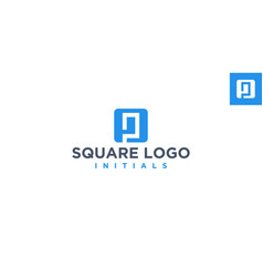 P negative space logo design inspiration vector