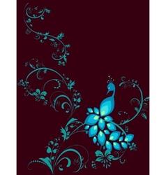 Peacock decorative plant vector