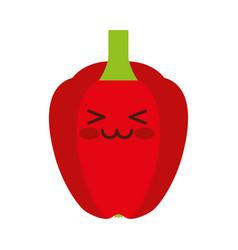 pepper fresh vegetable kawaii character vector image