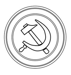 Russian round pin badge vector