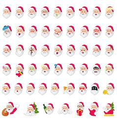 Santa claus emoji icons vector