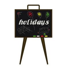 school holidays vector image