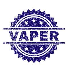 Scratched textured vaper stamp seal vector