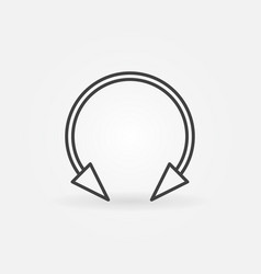 Spike circular barbell earring linear icon vector