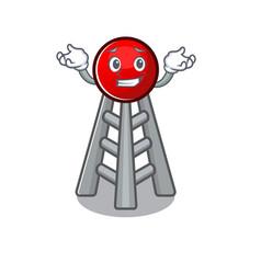 Super funny grinning radio tower mascot cartoon vector
