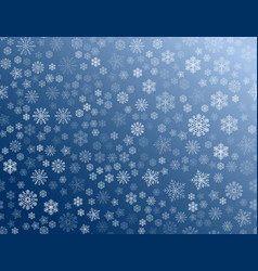 texture of white snowflakes on a blue background vector image
