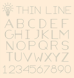 thin line alphabet vector image