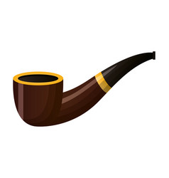 tobacco pipe on white background vector image