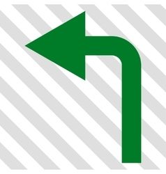 Turn left icon vector
