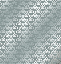 Vintage floral pattern seamless background Silver vector