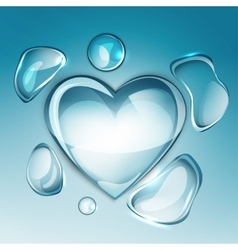 water drop heart next vector image
