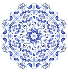 white and blue plate vector image