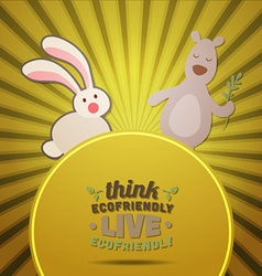 with nature and bunny vector image