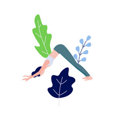 woman doing yoga stretching vector image