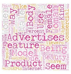 Women in Advertisements text background wordcloud vector