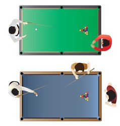 Billiard table top view for interior vector image