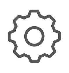 Grayscale contour with gear wheel vector