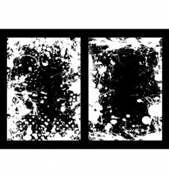 ink splat frame vector image vector image