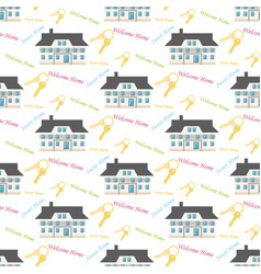 sweet home pattern vector image