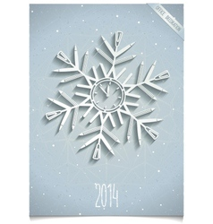 White office snowflake vector image vector image