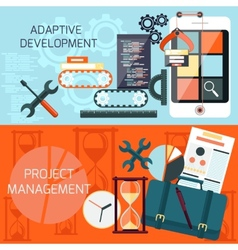 Adaptive development and project management vector image vector image