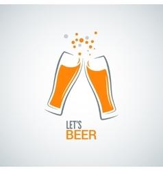 beer glass splash design background vector image vector image