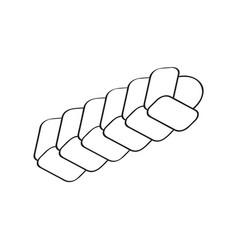 Braided bread icon vector