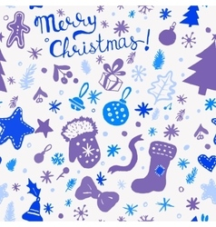 Christmas wallpaper - winter holidays pattern with vector