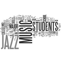 Jazz music schools text background word cloud vector