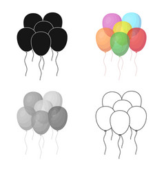 multicolored inable ballsparty and parties single vector image vector image