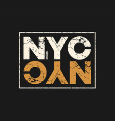 nyc original t-shirt and apparel design with vector image vector image