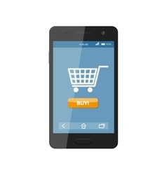 Online shopping Smartphone vector image